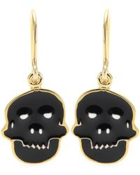 House of Waris - Skull Drop Earrings - Lyst