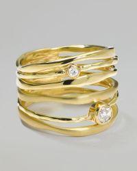 Ippolita - 18k Gold Movie Star Diamond Stacked Ring - Lyst