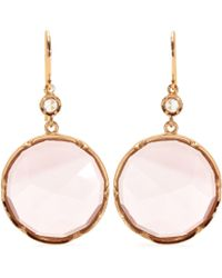 Irene Neuwirth 18Kt Rose Gold Earrings With Rose De France Amethyst And White Diamond pink - Lyst