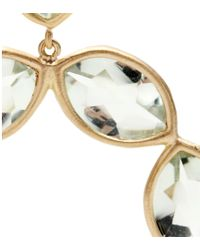 Jamie Wolf - 18kt Yellow Gold Linked Marquis Green Amethyst Earrings - Lyst