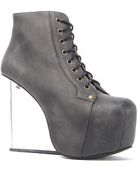 Jeffrey Campbell The Dina Shoe in Black Distressed Leather - Lyst