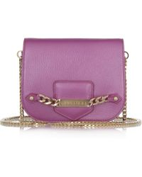 Jimmy Choo Shadow Pearlescent Leather Shoulder Bag - Lyst