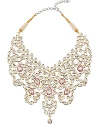 Kenneth Jay Lane Maharani Cubic Zirconia and Ruby Necklace - Lyst