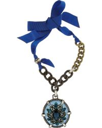 Lanvin Oversized Crystal Necklace - Lyst