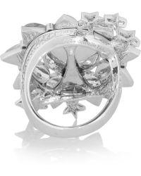 Lydia Courteille - Sun 18karat White Gold Moonstone and Diamond Ring - Lyst