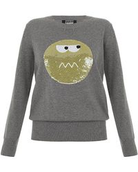 Markus Lupfer Sequin Angry Spot Face Jumper - Lyst