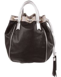 Meredith Wendell | Leather Tassel Circle Tote | Lyst