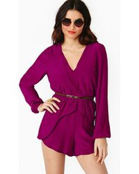 Nasty Gal Stronger Than Me Romper - Lyst
