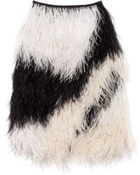 Proenza Schouler Embroidery Feathers Full Skirt - Lyst