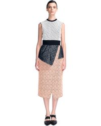 Proenza Schouler Lace Peplum Dress - Lyst