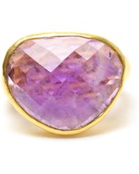 Ram - Hammered 22k Gold And Amethyst Ring - Lyst