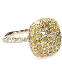 Roberto Marroni 18Kt Yellow Gold Ring With Yellow Ice And White Diamonds - Lyst