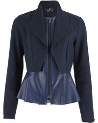Sachin & Babi Twill Tore Jacket with Leather - Lyst