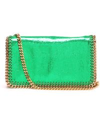 Stella McCartney Falabella Faux Cracked Leather Cross Body Bag - Lyst