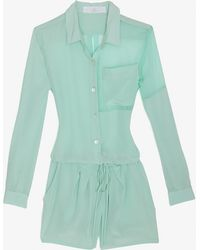 Thakoon Addition Silk Blouse Romper - Lyst