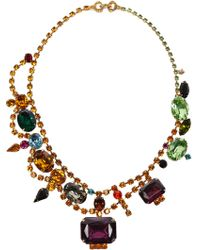 Tom Binns Faux Real Goldplated Swarovski Crystal Necklace - Lyst