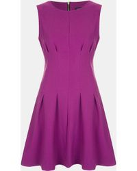 Topshop Seamed Waist Party Dress - Lyst