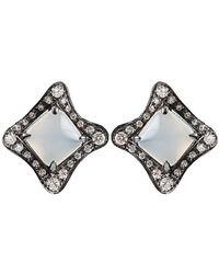 Antonini - Moonstone and Silver Mist Diamond Earrings - Lyst