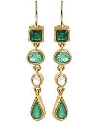Boaz Kashi - Kiyojo Emerald Drop Earrings - Lyst
