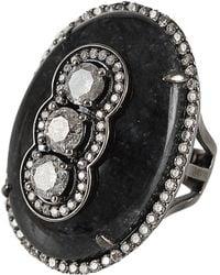 Bochic - Blackjade and Diamond Ring - Lyst
