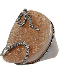 Bochic - Druzy Diamond Snake Ring - Lyst