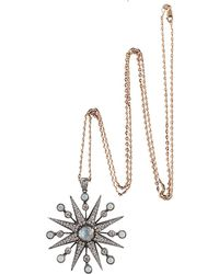 Colette - Diamond Starburst Pendant Necklace - Lyst