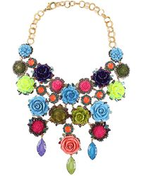 Erickson Beamon Rose Garden Bib Necklace multicolor - Lyst
