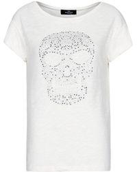 Mango Embroidery Ethnic Blouse white - Lyst