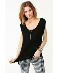 Nasty Gal Not Your Girlfriend Tee Black - Lyst