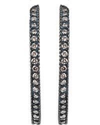 Yossi Harari Lilah Pave Hoop Earrings - Lyst