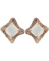 Antonini - Moonstone and Diamond Earrings - Lyst