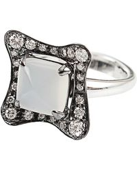 Antonini - Moonstone and Silver Mist Diamond Ring - Lyst