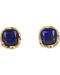 Elizabeth And James Meadowlark Lapis Snake Stud Earrings - Lyst