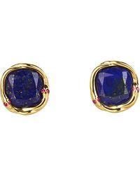 Elizabeth And James Meadowlark Lapis Snake Stud Earrings gold - Lyst