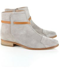 Folk Light Grey Suede Steph Boots - Lyst