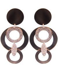 Luxury Fashion Drop Disc Earrings - Lyst