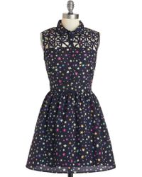 ModCloth Star Catching Dress - Lyst
