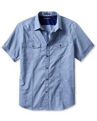 Banana Republic Pintuck Utility Shortsleeve Shirt - Lyst