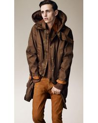 Burberry Brit - Hooded Parka - Lyst