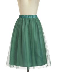 ModCloth Going Tulle Be Lovely Skirt in Forest - Lyst