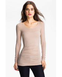 Trouvé Hinge Ruched Long Sleeve Tee - Lyst
