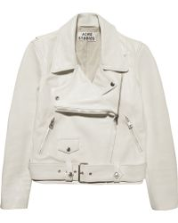 Acne Merci Leather Biker Jacket - Lyst