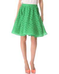Alice + Olivia Puff Skirt green - Lyst