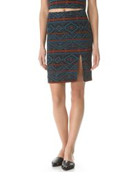Jenni Kayne Printed Seam Skirt - Lyst