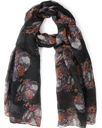 ModCloth Dome Grown Scarf in Black - Lyst