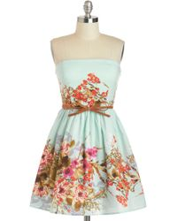ModCloth Tell Me A Secret Garden Dress - Lyst