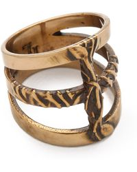 Pamela Love - Vine Cross Ring - Lyst