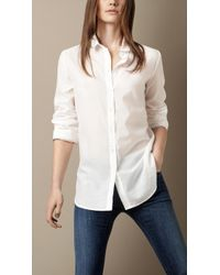 Burberry Brit Striped Cotton Shirt - Lyst