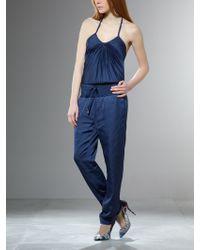 Patrizia Pepe Duble Fabric Jampsuit blue - Lyst