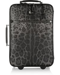Dolce & Gabbana - Leathertrimmed Printed Scotch Grain Suitcase - Lyst